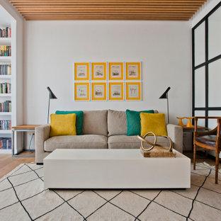 Diseño de salón madera contemporáneo