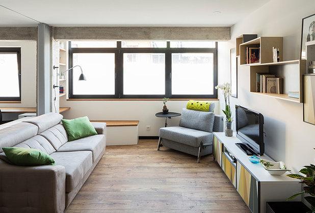 Moderno Salón by osb arquitectos