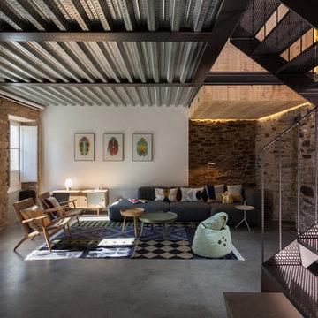 La vivienda y el estudio en el centro de Santiago de Compostela