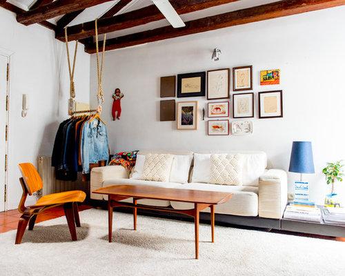 wohnen im loft style mit terrakottaboden ideen f r die wohnraumgestaltung houzz. Black Bedroom Furniture Sets. Home Design Ideas