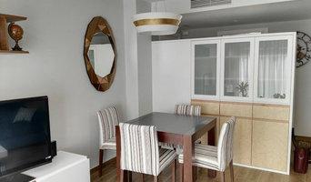 Nueva zona de mesa de comedor con mueble diseñado y realizado a medida.