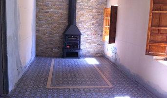 Pavimento imitación a hidráulico en una reforma de una casa antigua