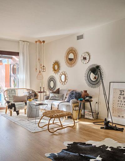 Eklektisch Wohnbereich By Masfotogenica Interiorismo