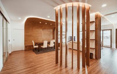 Casas Houzz: Un gran piso de espacios amplios y cálidos en Madrid