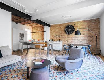 Reforma integral de un piso modernista con carácter industrial en Barcelona