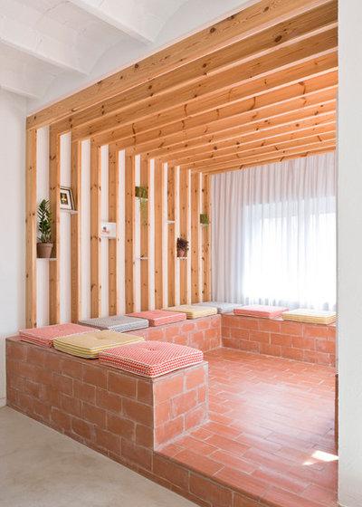 vorher nachher eine wohnung mit freiluft zimmer in barcelona. Black Bedroom Furniture Sets. Home Design Ideas