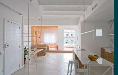 Casas Houzz: Un piso cálido, con suaves toques de color, en Barcelona