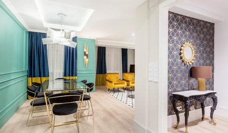 Casas Houzz: El elegante y colorido ático en Madrid de una médica