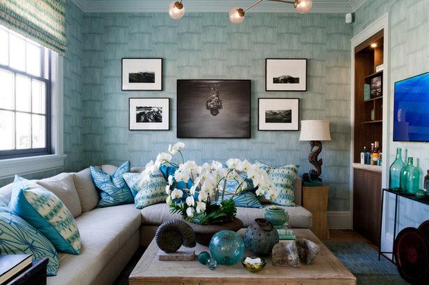 Beach Style Living Room by Cofidis