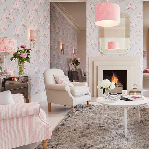 Shabby chic style living room design ideas renovations - Laura ashley barcelona ...