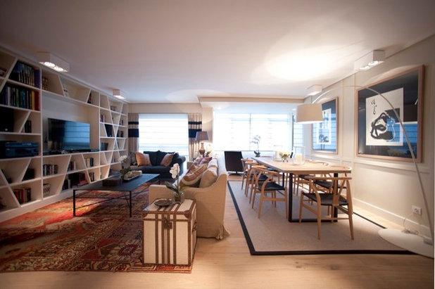 Contemporáneo Salón by Sube Susaeta Interiorismo