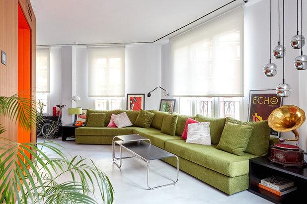 Contemporáneo Salón by La Reina Obrera - Arquitectura e Interiorismo