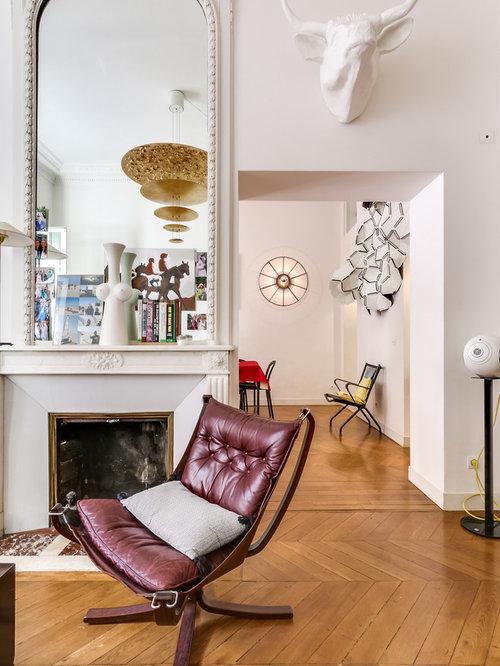 Salon Avec Un Manteau De Chemine En Pltre  Photos Et Ides Dco