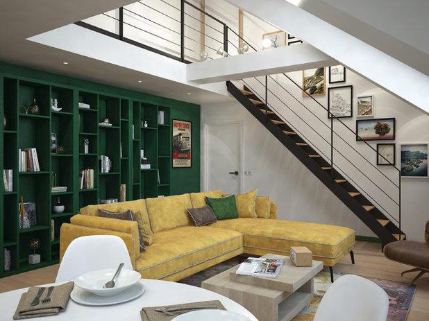 Contemporary Living Room by Dimitri Tsvetkov