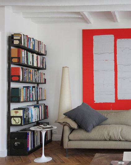 Transitional Living Room by A+B KASHA Designs