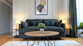 Aménagement et décoration appartement Dijon type Airbnb