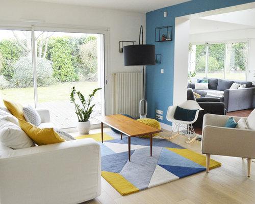 Maritime wohnzimmer in frankreich ideen design bilder houzz - Maritimes wohnzimmer ...