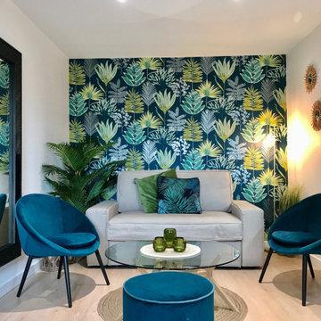 Aménagement et décoration thème Jungle Appartement Dijon Centre (21)