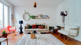 Aménagement salon et salle à manger appartement haussmanien