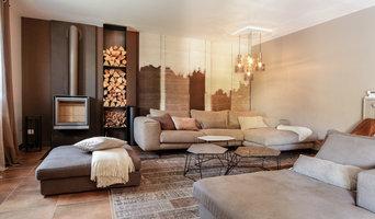 aménagements et décoration meublée d'un salon de particulier - ajout d'un poêle