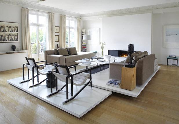 Scandinavian Living Room by Bismut & Bismut Architectes