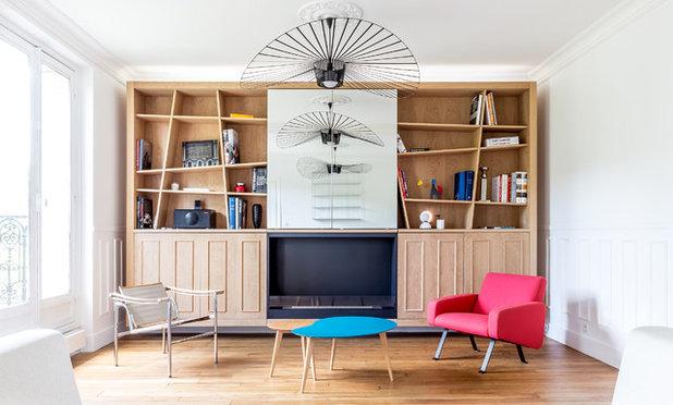 Contemporain Salon by Créateur d'Intérieur Marseille