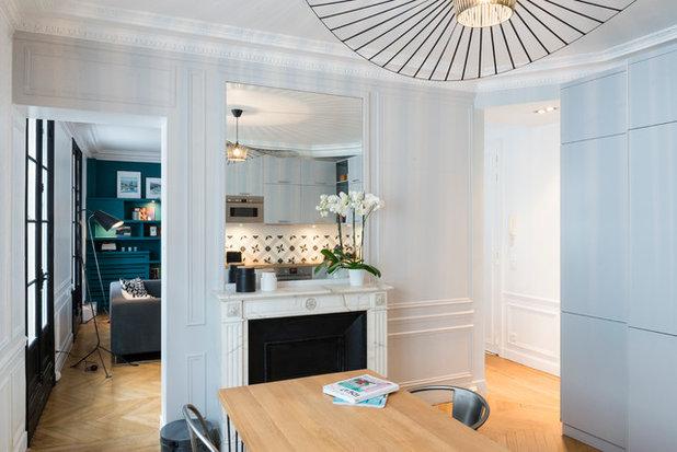 visite priv e un 96 m parisien devient cosy et gagne deux chambres. Black Bedroom Furniture Sets. Home Design Ideas