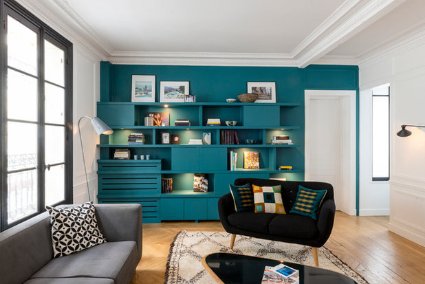 Contemporary Living Room by A&D Vanessa Faivre