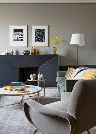 Contemporary Living Room by Fanny Prat - Architecte d'intérieur