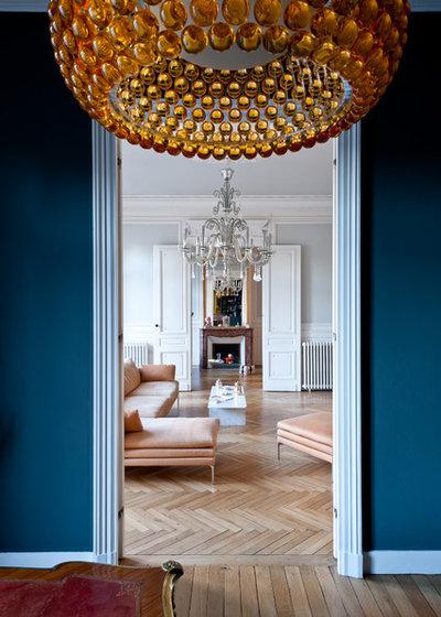 Contemporain Salon by Daphné Serrado Architecte d'intérieur