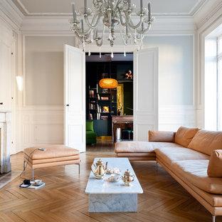 Salon Gris Et Bordeaux salon avec un mur gris bordeaux : photos et idées déco de salons
