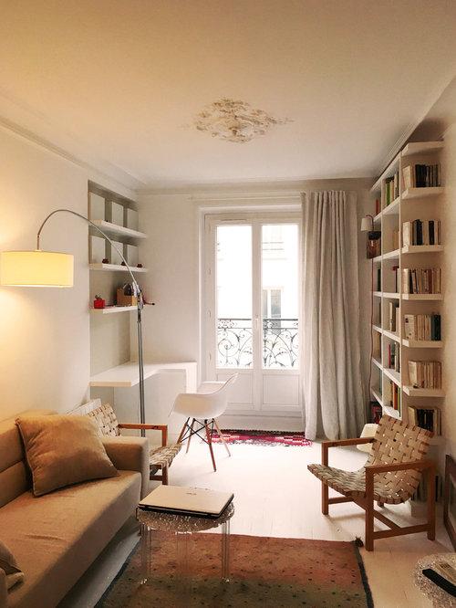 Small living room design ideas renovations photos with for Small reading room design ideas