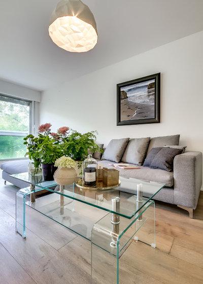 visite priv e deux studios rassembl s en un appartement de 48 m. Black Bedroom Furniture Sets. Home Design Ideas