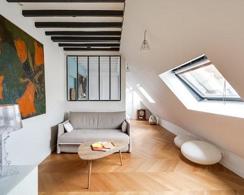 Salon Avec Un Mur Blanc Photos Et Idées Déco De Salons - Deco salon mur blanc