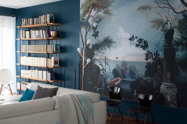 Éclectique Salon by Carole Dugelay, Architecture Intérieure-Décoration