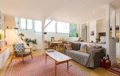 Vorher-Nachher: Ein Pariser Künstleratelier wird Wohnzimmer und Küche