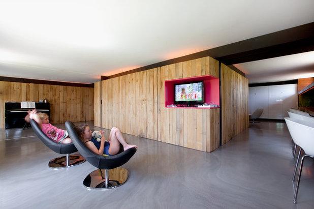 Contemporain Salon by Tarlet Architectes