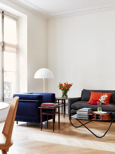 Scandinavian Living Room by A+B KASHA Designs