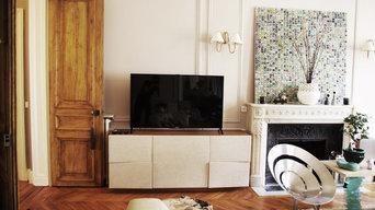 Bibliothèque, console, meuble TV - 8ème arrondissement