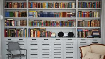 Bibliothèque contemporaine, style anglais
