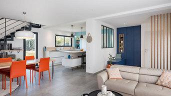 C'est une maison bleue ... à la décoration originale et pétillante à Chaponost d