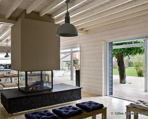 eklektische wohnzimmer mit h ngekamin ideen design. Black Bedroom Furniture Sets. Home Design Ideas