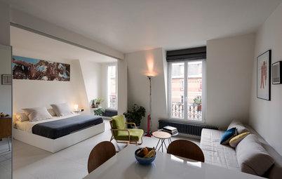Visite Privée : Un pied-à-terre style loft au minimalisme chic