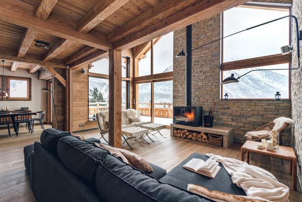 Rustic Living Room by Yoan Chevojon