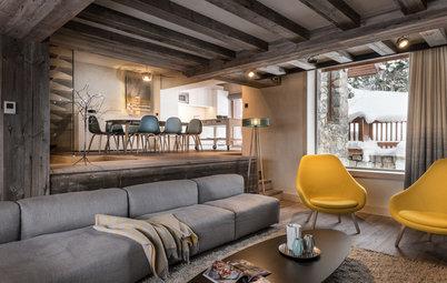Houzz Франция: Современное шале в старом доме в Мерибеле