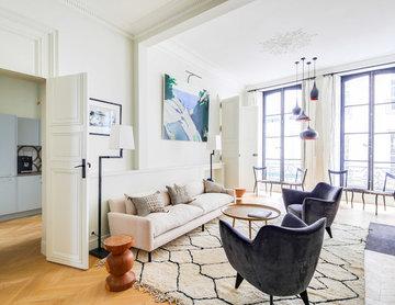 Charmant pied à terre à ParisRéalisation Kerwoods & l'agence Design d'espaces.