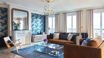 Chic and Colorful Parisian apartment