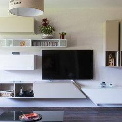 composition murale pour meuble tv design - modern - living room ... - Composition Meuble Tv Design