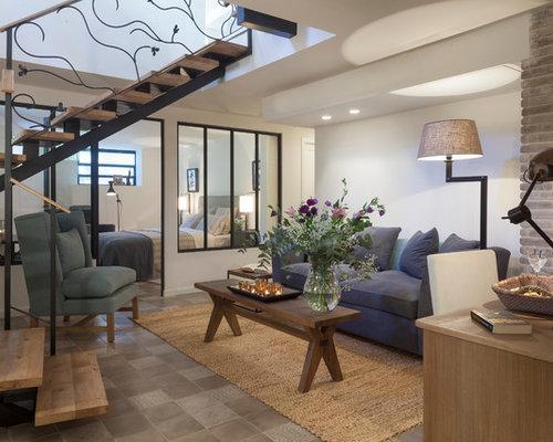 Beispiel Fr Reprsentative Kleine Fernseherlose Offene Moderne Wohnzimmer Ohne Kamin Mit Weisser Wandfarbe