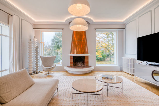 Современный Гостиная by Inside Rénovation & Décoration d'intérieurs